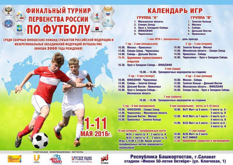 Финальный турнир среди сборных МРО,юноши 2000 г.р., Салават